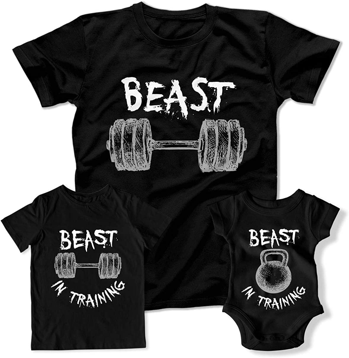Beast Workout Beast in Training Family Matching Outfits Workout Shirts Gym DN-750-51-52