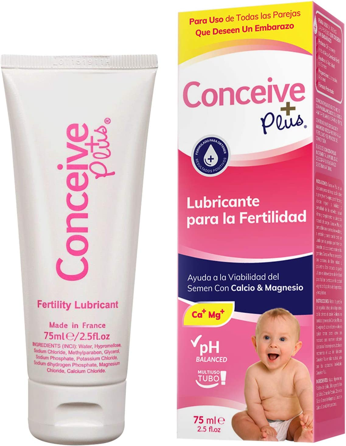 Conceive Plus Lubricante para La Fertilidad, Tubo 75ml