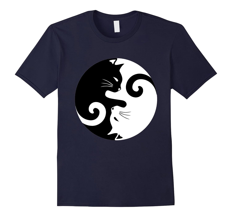 Yin and Yang Cat Tee Shirt-CL