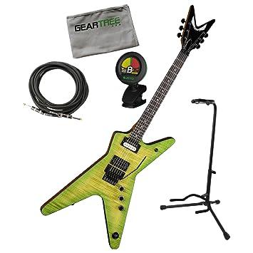 Dean DB DS Dimebag Dime limo ml eléctrico guitarra w/geartree gamuza, soporte, sintonizador, y cable: Amazon.es: Instrumentos musicales