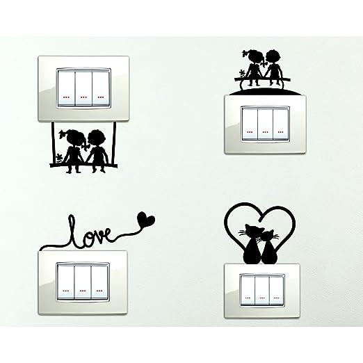 37 opinioni per StickerDesign Adesivi per interruttore 4 PEZZI spine placche Adesivo BAMBINI
