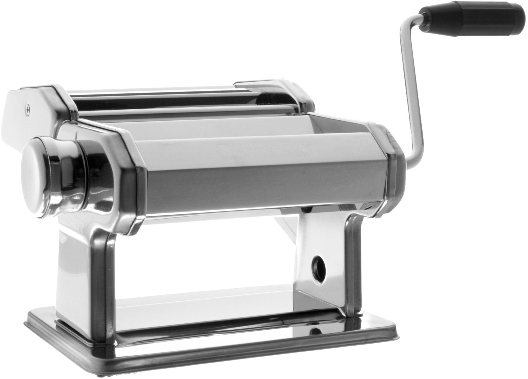 Pasta Maker Machine (177) By Cucina Pro - Heavy Duty Steel Construction - with Fettucine and Spaghetti attachment and Recipes by CucinaPro