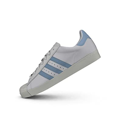 299448f4d32 adidas Men's Superstar Vulc X Krooked Running Shoes, FTWR Customized/Chalk  White, ...