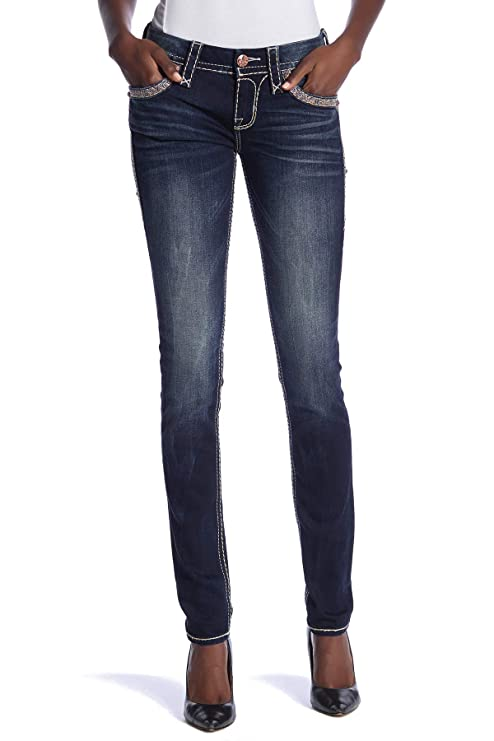 Amazon.com: Rock Revival Vaness Skinny Stretch Jeans S202 ...