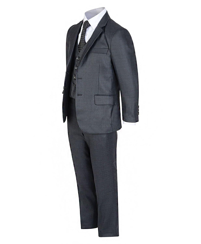 LotMart Jungen 5 St/ück Formeller Anzug Jacke Weste Krawatte Shirt Hosen Hochzeit Party