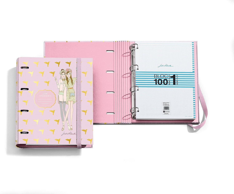 /Ordner Block Notebook M/ädchen Colibris JL DIN A4, 210/x 297/mm, 100/Blatt, 70/g//m/², 4/D-Ringe 35/mm Jordi Labanda 20932/