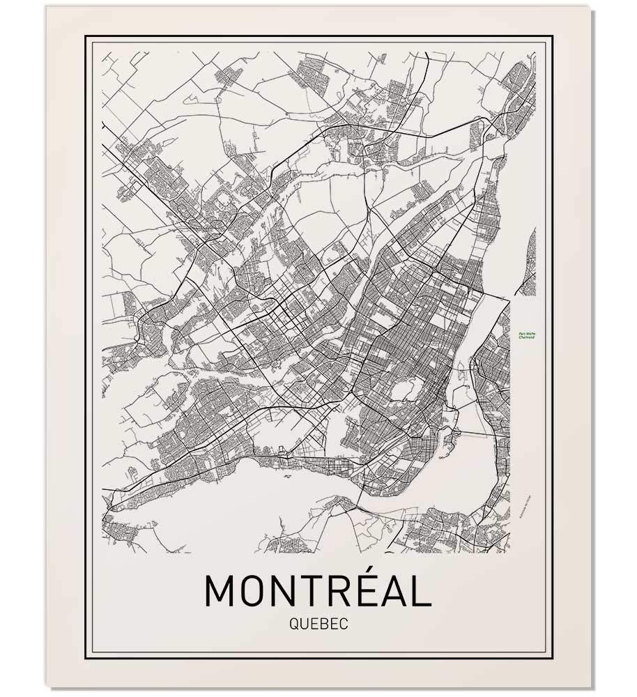 graphic relating to Printable Map of Montreal identified as Montréal Poster, Montréal Map, Map of Montréal, Metropolis Map