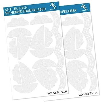 Wandkings Anti-Rutsch-Sticker 26 Aufkleber Boote f/ür mehr Sicherheit im Badezimmer
