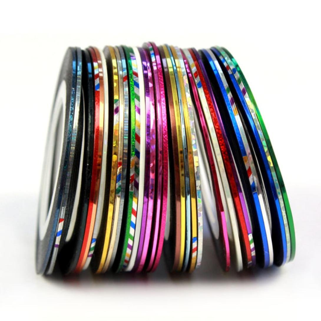 Gotd Rolls Striping Tape Line Nail Art Decoration Sticker Brand 30 Kinds of Colors