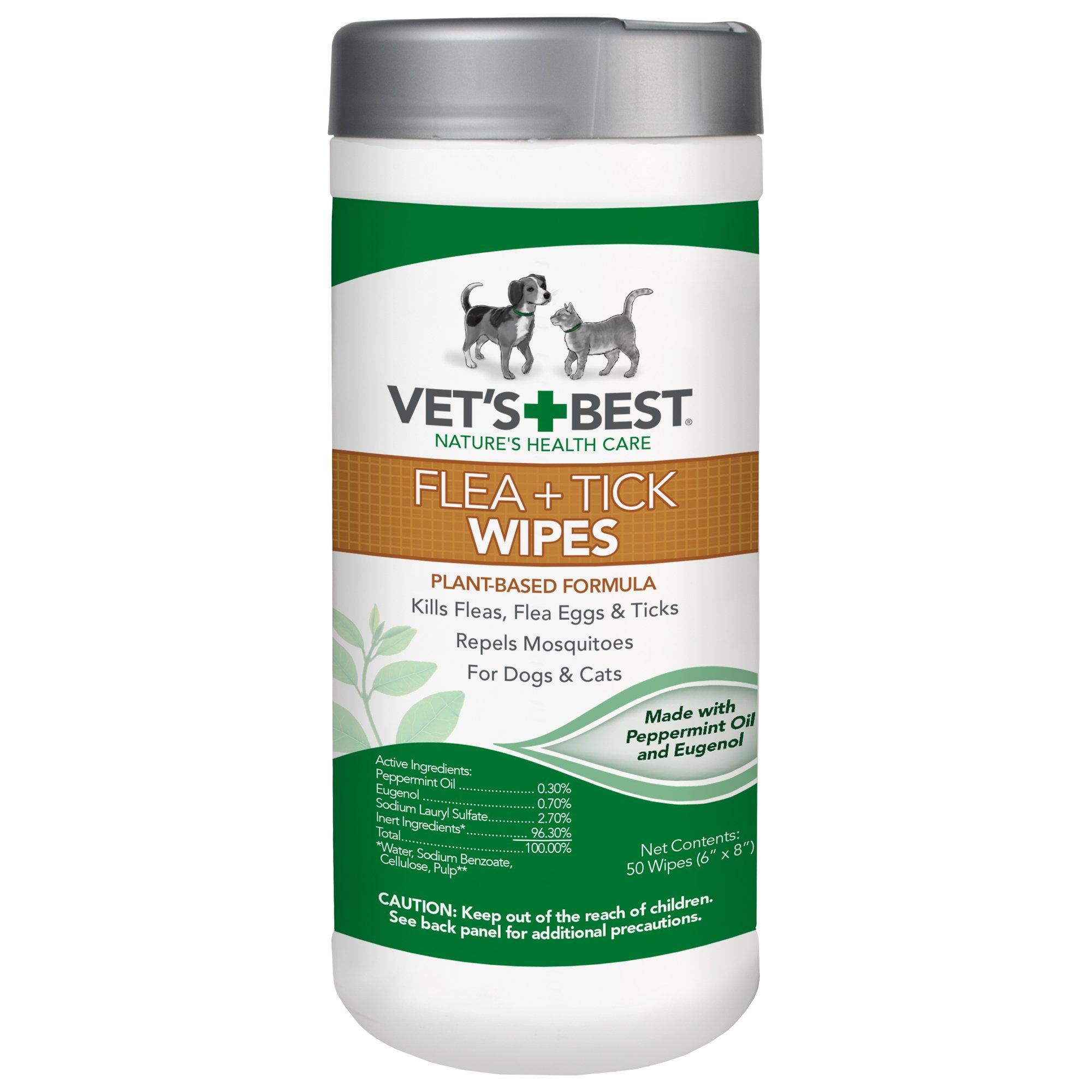 Vets Best Flea Tick Wipes Dogs Cats 50 Usa Goats Dont Lie Tea Tree 300 Ml Made Pet Supplies