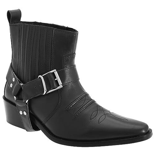Gringos Herren Leder Cowboy Stiefel