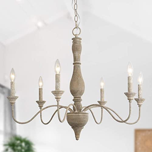GEPOW 6-Light French Country Chandelier