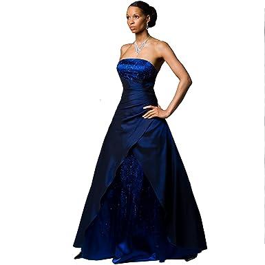 Exklusives Abendkleid Ballkleid mit Perlenbestickung \
