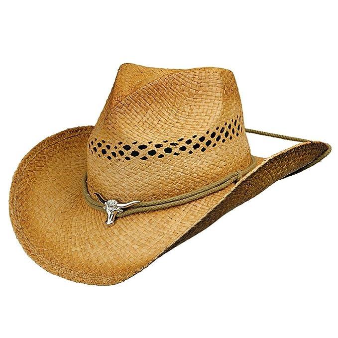 Deadwood Trading Trail Boss x2022  Shapeable Raffia Straw Cowboy Hat  (Small d54a4e58179