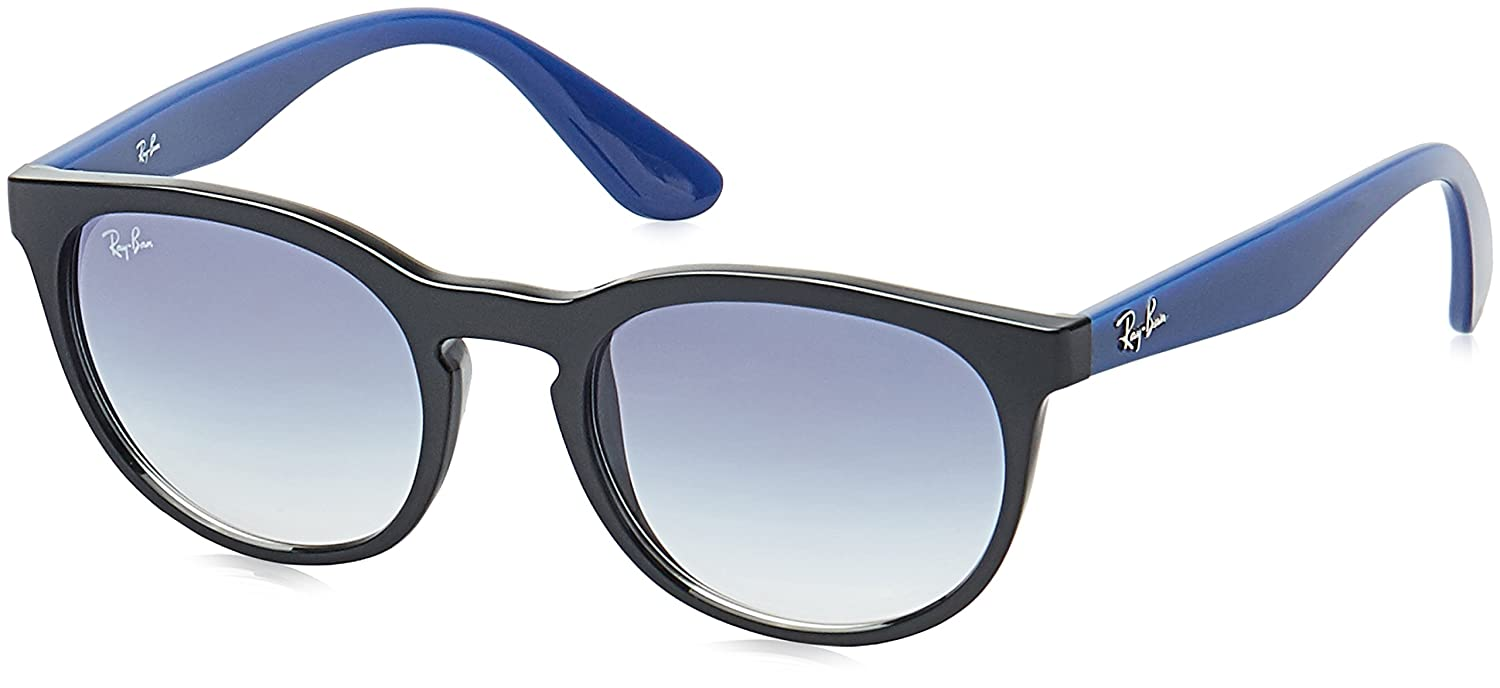 55069c5bd Ray-Ban Gradient Round Unisex Sunglasses - (0RB4252I62341951|51.1|Clear  Gradient Blue lens): Amazon.in: Clothing & Accessories