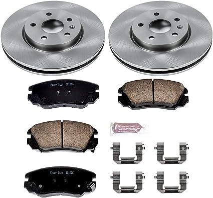 2 Pair Detroit Axle 321mm Front Disc Brake Kit Rotors w//Ceramic Pads 321MM ROTORS MEASURE YOUR ROTORS TO ENSURE FITMENT
