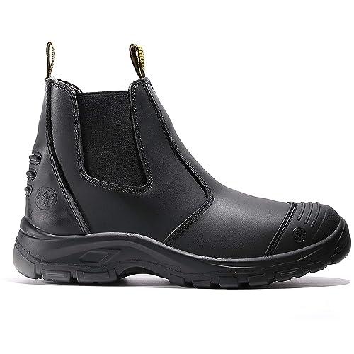 diig Work Boots for Men, Steel Toe