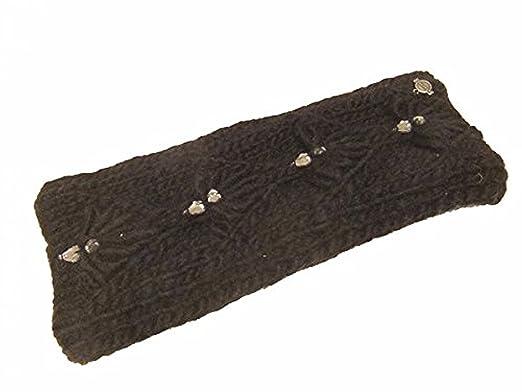 fb2671dc2f2f57 Seeberger Damen Stirnband mit Steinchen und gefüttert 017159-00000-10  schwarz