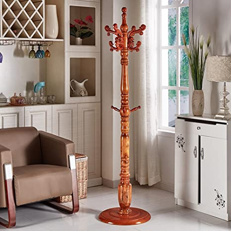 Amazon.com: Sunshine perchero de madera maciza recámara piso ...