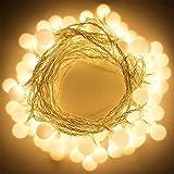 LED Ball String Lights, Bukm 50 Petite Boules Ampoule Blanc chaud Décoration romantique pour Party, 5m LED Lumière Batteries Alimenté pour Noël,Mariage,Chambre Jardin Terrasse Pelouse Décor