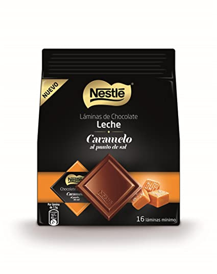 Nestlé - Láminas de Chocolate con Leche y Caramelo al Punto de Sal - 135 g