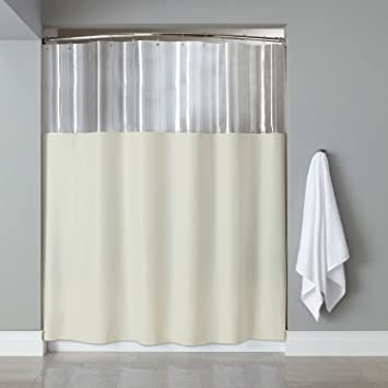 Sweet Home Collection Extra Long 84quot X 72quot Shower Curtain With Clear See Through