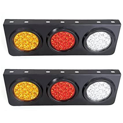 Led Truck Tail Lights >> Led Truck Trailer Tail Lights With Iron Bracket Base