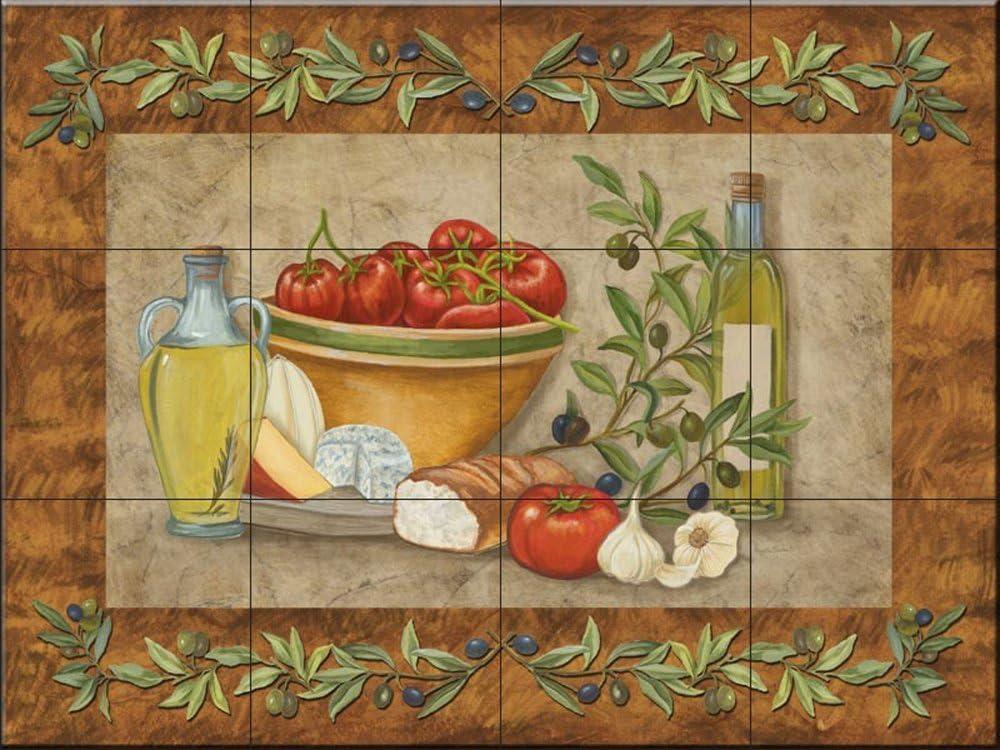 K/üche Aufkantung//Bad Dusche Toskana Treats I von Mary Lou Troutman Fliesenwandbild