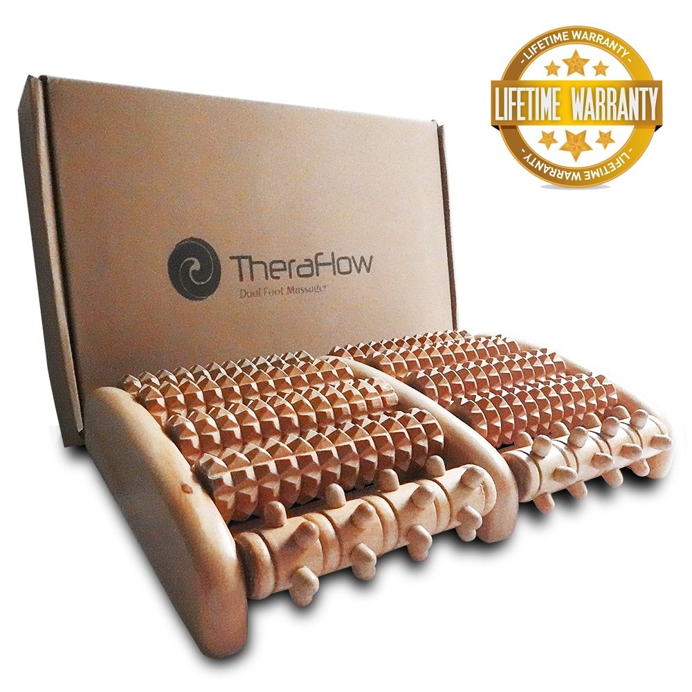 Amazon Theraflow Dual Foot Massager Roller Large Relieve