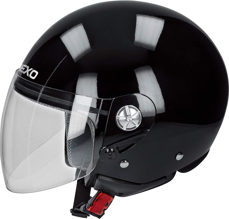 Thermoplastique Unisexe Toute lann/ée Nexo Casque de Jet Casque de Moto Casque de cyclomoteur Casque Demi-Jet City Chopper//Cruiser