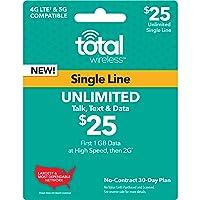 Total Wireless - $25 Talk & Text Prepaid Phone Card