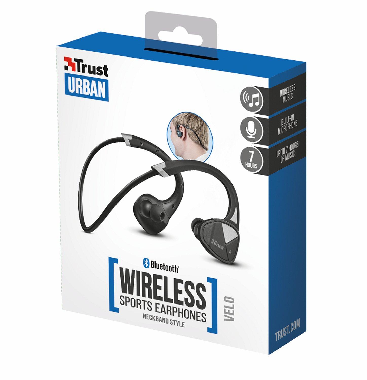 Trust Urban Velo - Auriculares Bluetooth inalámbricos, Color Negro: Amazon.es: Electrónica