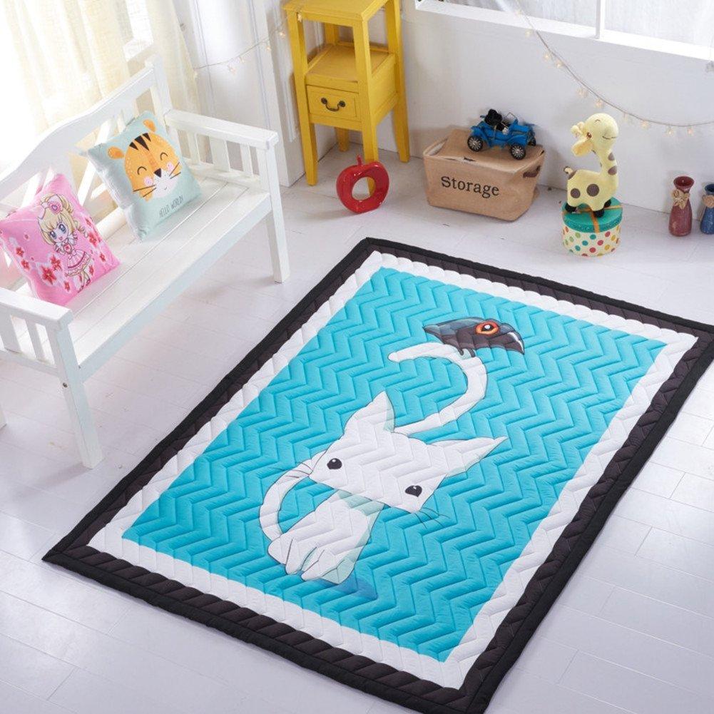 赤ちゃんクロール マットを厚く,子供滑り止めの床マット 折り畳み式 畳 ファブリック プレイマットします。 145 * 195 * 3 cm-D 145x195cm(57x77inch) B07D5S7TDN A 145x195cm(57x77inch) 145x195cm(57x77inch)|A