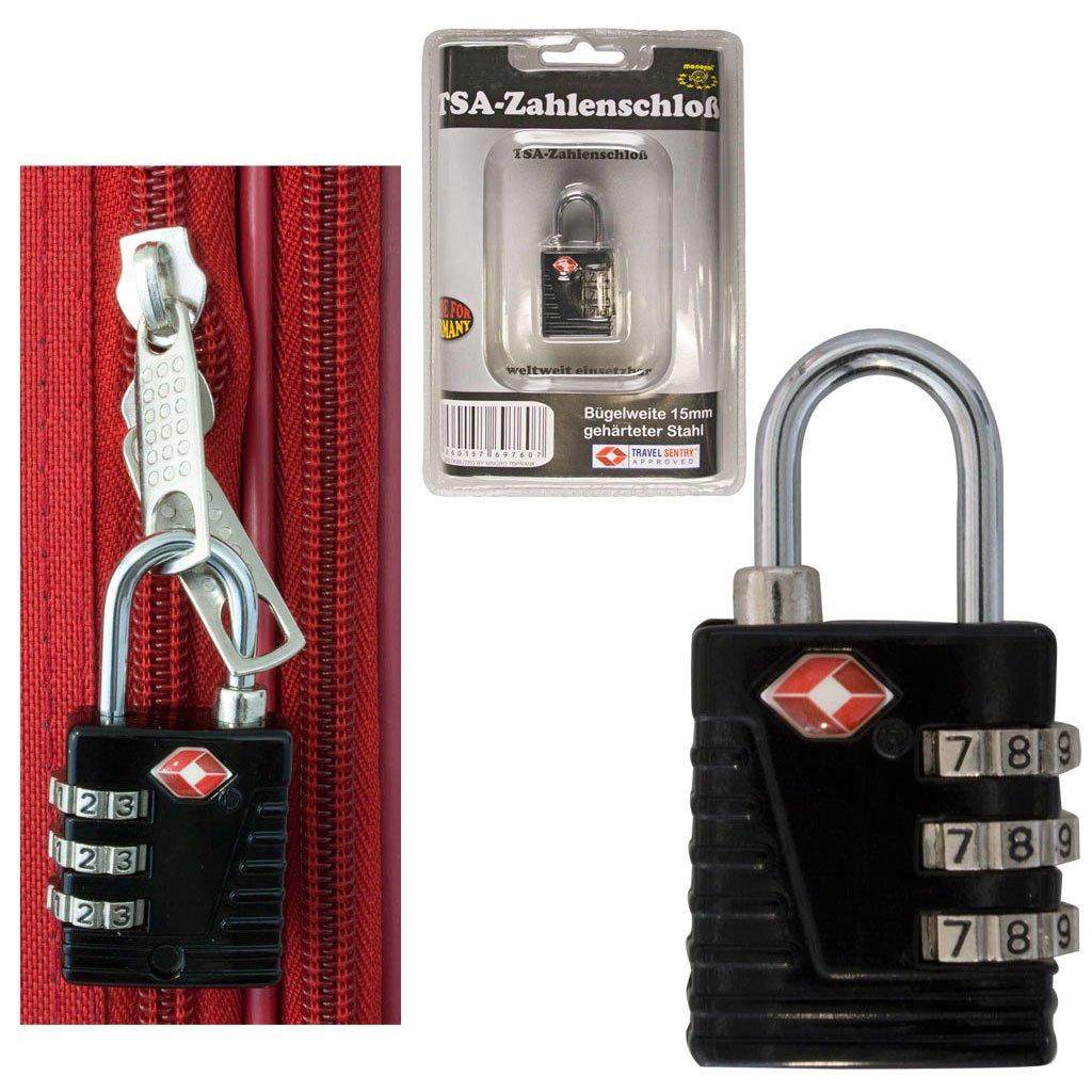 PM Euro-Trading Luggage Lock Bag Organiser 10 cm Black