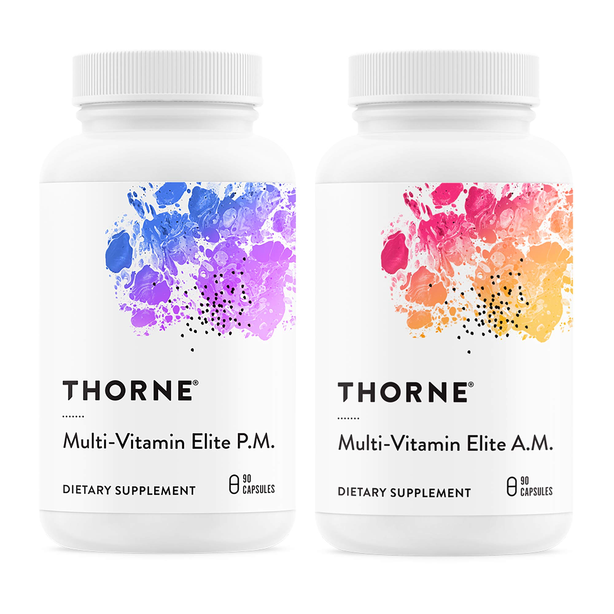 Thorne Research - Multi-Vitamin Elite - A.M. and P.M. Formula to Support a High-Performance Nutrition Program - NSF Certified for Sport - 180 Capsules