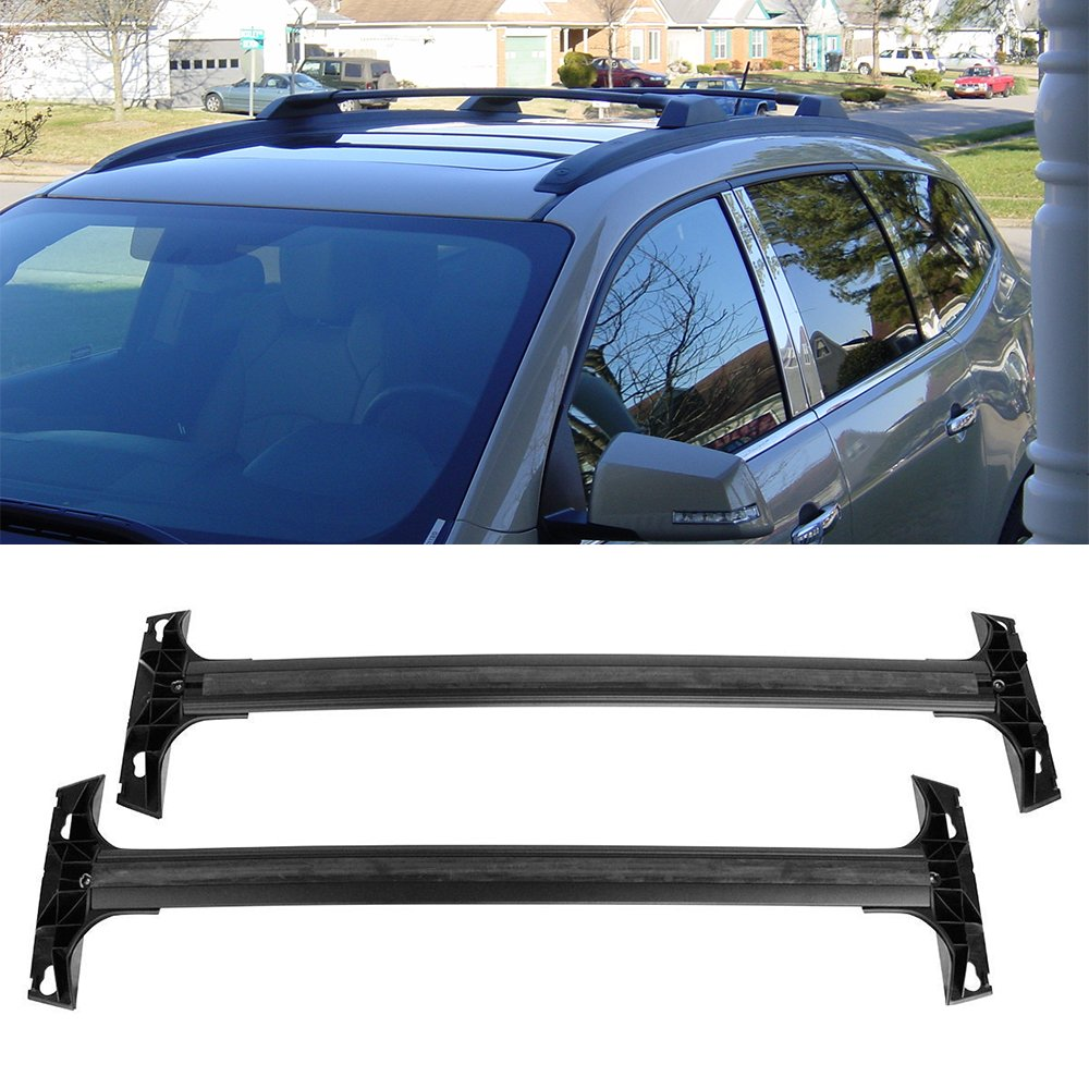 Roof Rack Cross Bar /& Side Rail Package for 09-17 Chevrolet Traverse Factory Style Replacement 19244268