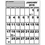 Jumbo Print Calendar - 2016