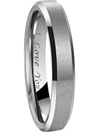 4mm 6mm 8mm tungsten wedding - Wedding Rings Mens