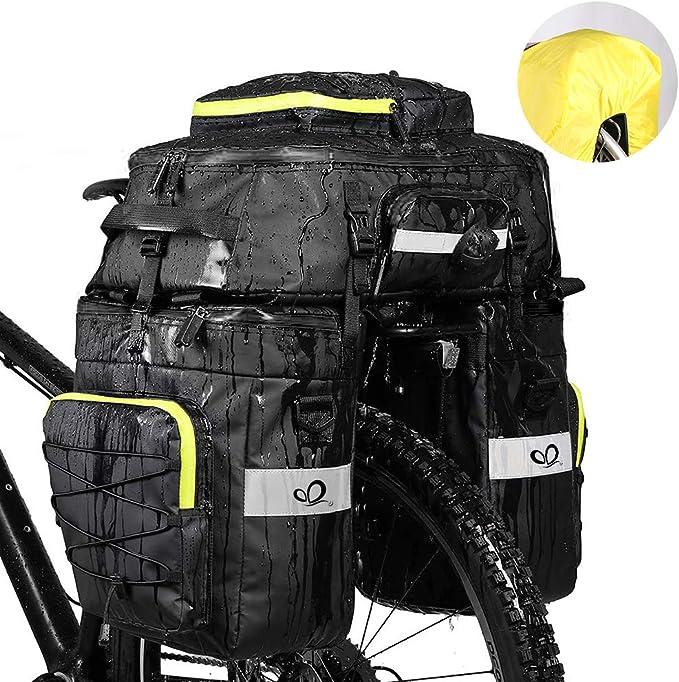 Fahrradtasche PVC Doppel Tasche Gepäckträger Gepäcktasche Fahrrad Packtasche