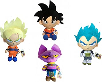 Pack 4 Peluches Dragon Ball Super Son Goku Black y Super Saiyan ...