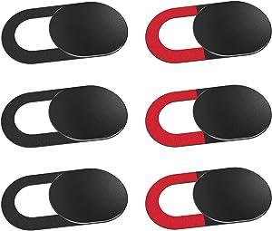 Laptop Camera Cover Slide, Anti-spy Webcam Cover for Laptop, PC, MacBook,iMac,Computer,iPad,Smartphone,Echo Spot,Tablet,Ultra Thin Camera Slide Blocker