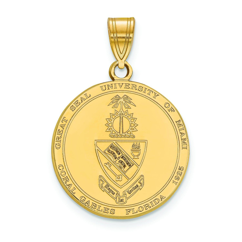 マイアミLarge (3 / 4インチ) Crest (ゴールドメッキ)   B01JAONG9I