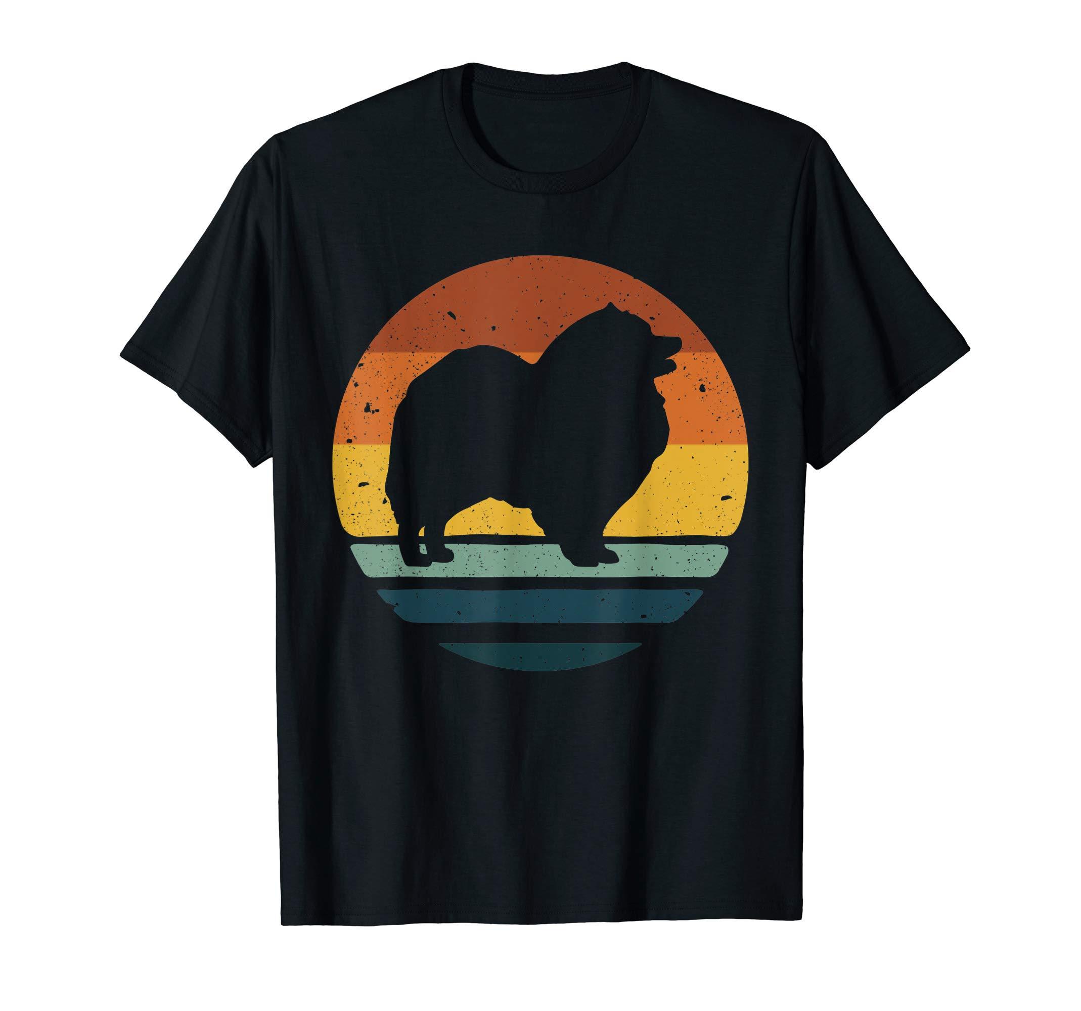 Keeshond Vintage Retro Dog Mom Dad Gift T-Shirt 1