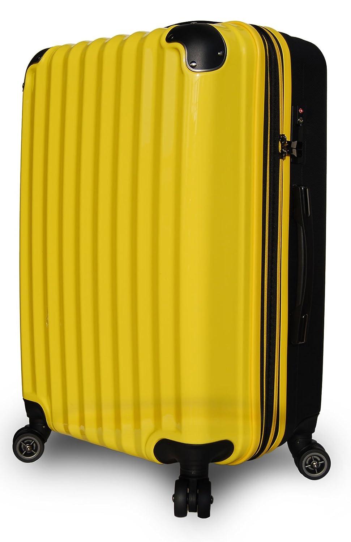 【JP Design】スーツケース 超軽量 拡張 ダブルキャスター 8輪 大型 キャリーケース キャリーバッグ B01NBDK5EP LLサイズ( 93L~108L)|イエロー/BK イエロー/BK LLサイズ( 93L~108L)