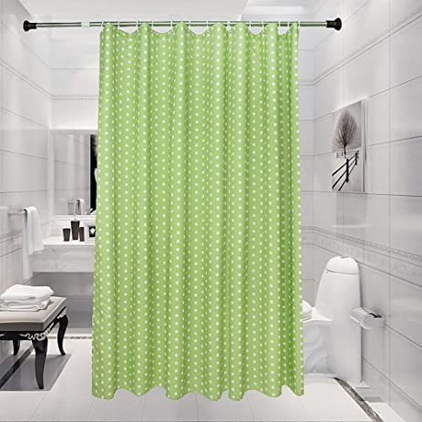 Riverbyland Shower Curtains Green Dots 72quot X 80quot