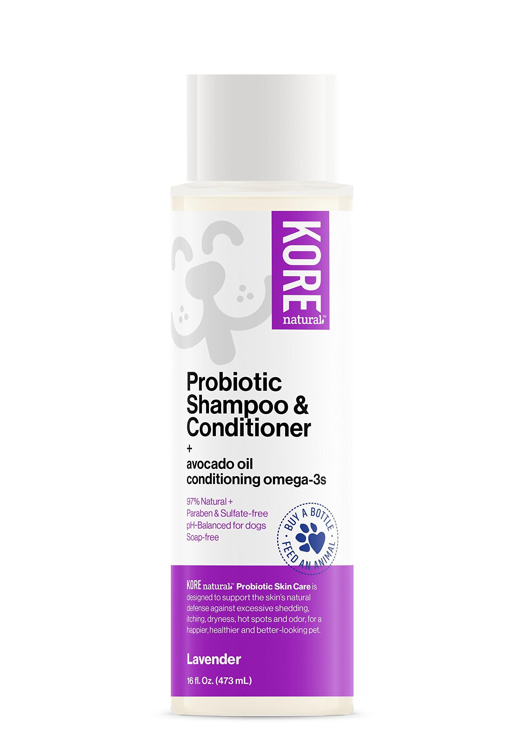 KORE NATURAL Probiotic Shampoo Plus Conditioner Lavender, 16 Ounce Bottle
