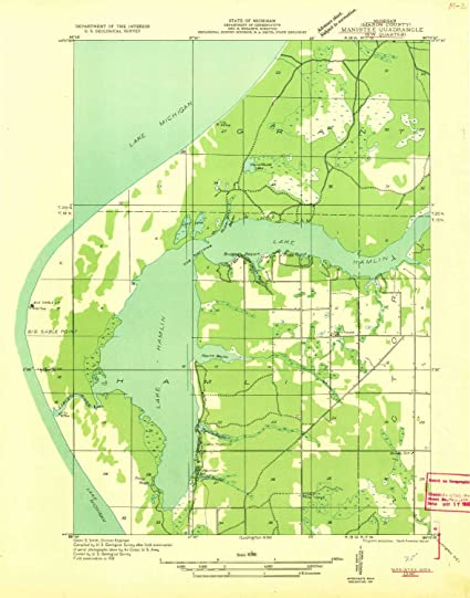 Amazon Com Yellowmaps Manistee Sw Mi Topo Map 1 31680 Scale 7 5 X