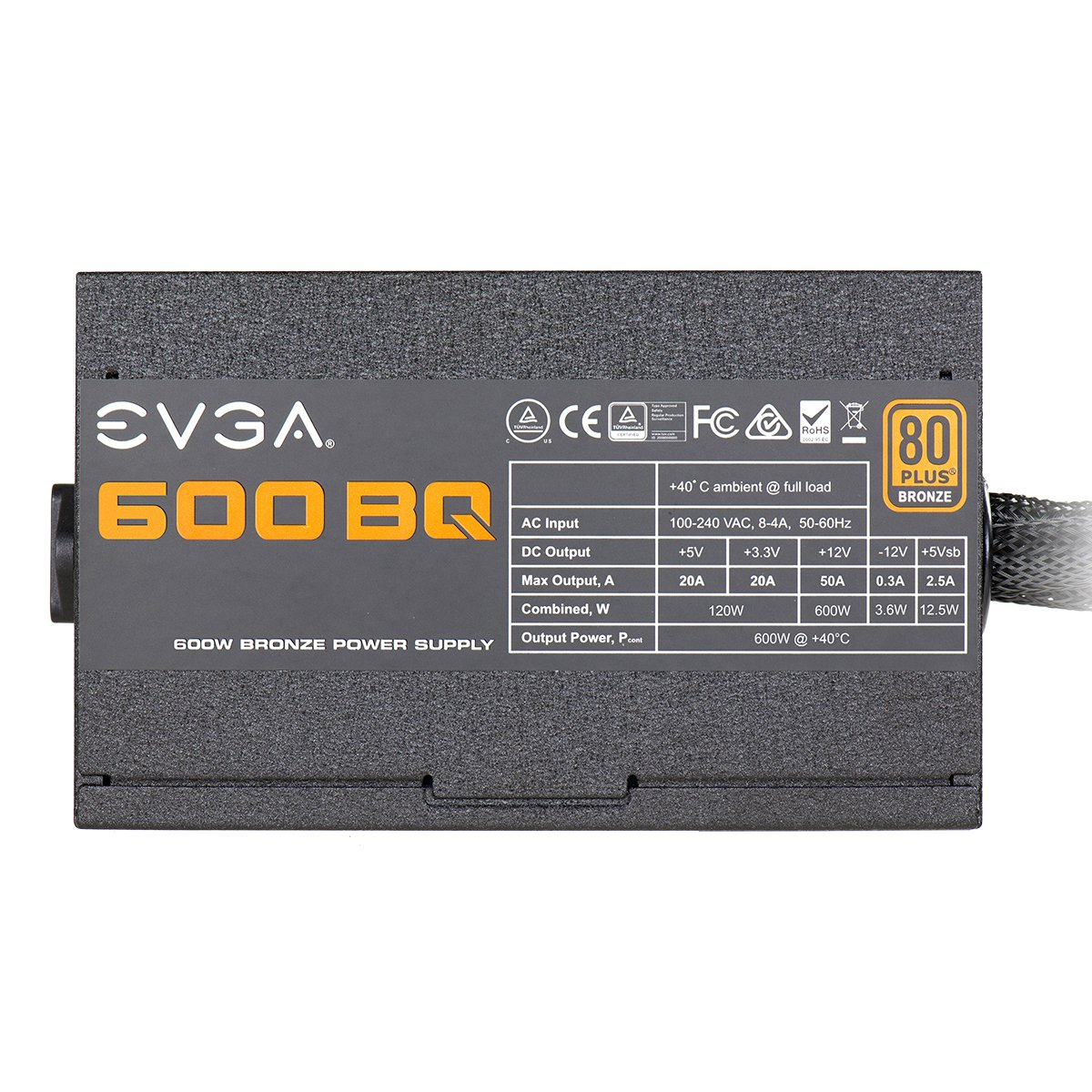 EVGA 600 BQ, 80+ Bronze 600W, Semi Modular, FDB Fan, 3 Year Warranty, Power Supply 110-BQ-0600-K1 by EVGA (Image #6)