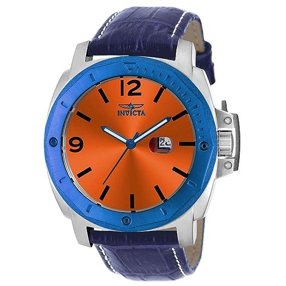 Invicta 18837 Men's Specialty Orange Dial Blue Polyurethane Strap Watch