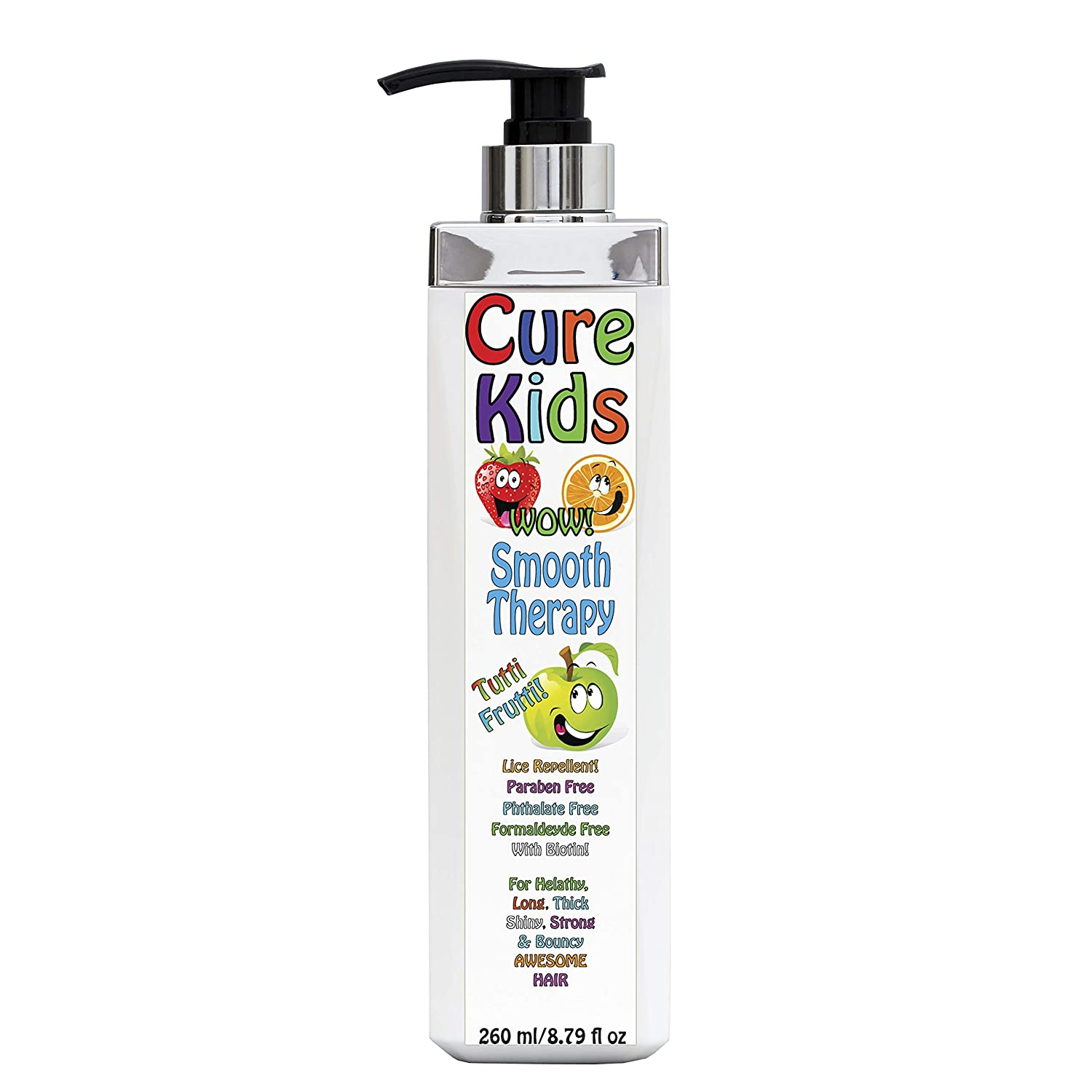 B07R694JYP Cure Kids Wow! Smooth Therapy Silky Shiny Hair Treatment for your kids. Safe, Paraben Free, Lice Repellent. Swimmers Safe for all little ones children child baby babies hair (8 fl oz) 718Vn73J2BpL._SL1500_